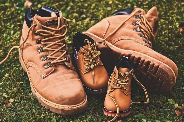 親子の登山靴