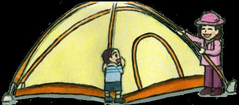 テント設営イラスト