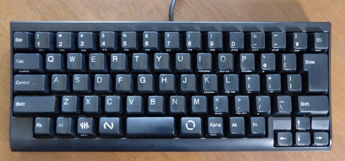 掃除後のキーボード