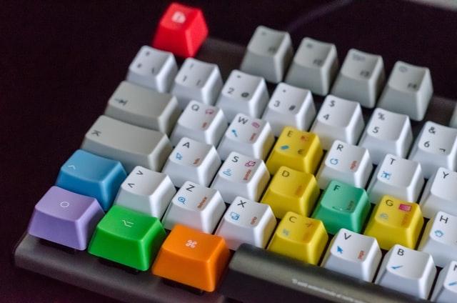 カラフルなキーボード