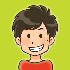 子供の笑顔の正面向きアイコン