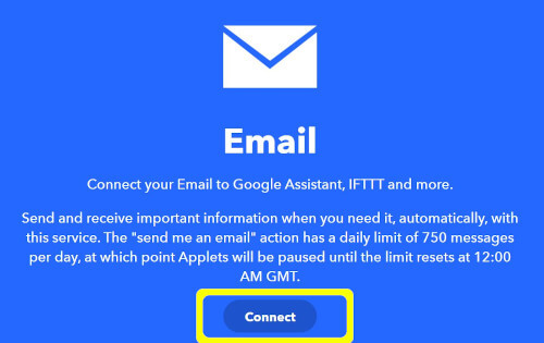 IFTTTのEmailサービス