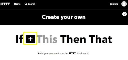IFTTTでEmaiからLINEへ通知するフローを作成する最初のステップ