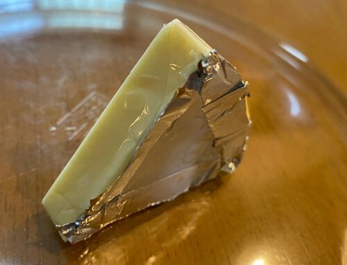 6Pチーズの包装の裏面だけ残す