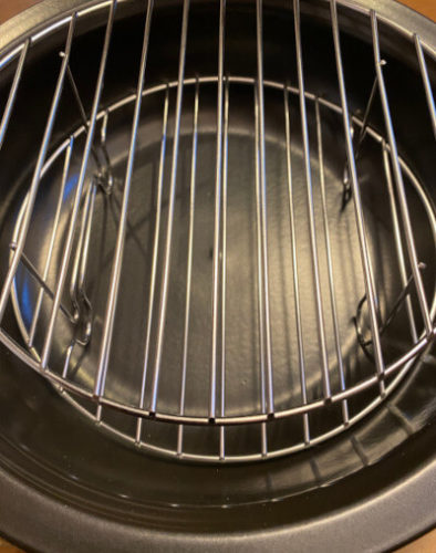 TOCERAMニューセラミックス製燻製鍋の内部