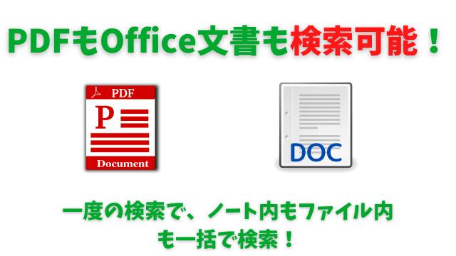 Evernote有料版だとPDFもOffice文書も中身の検索まで可能